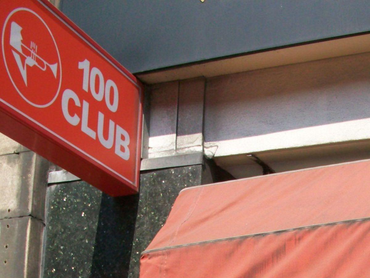 100 Club sign.