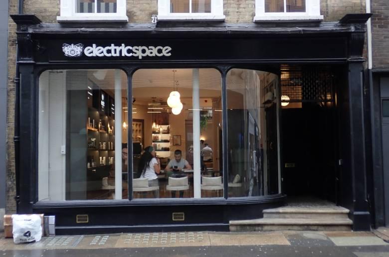 Shopfront at 11 Rathbone Place, Fitzrovia, London.