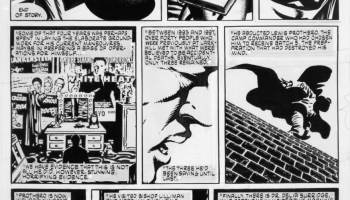 Cartoon strip from graphic novel.