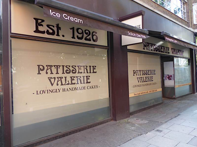 View of shopfront at 24 Torrington Place, Fitzrovia.