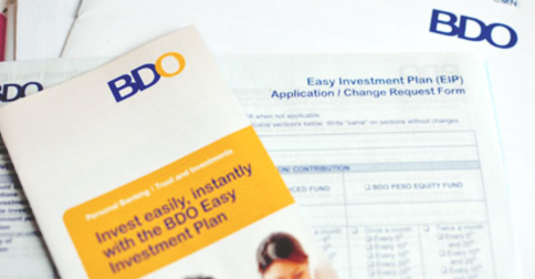 easy investment plan of bdo