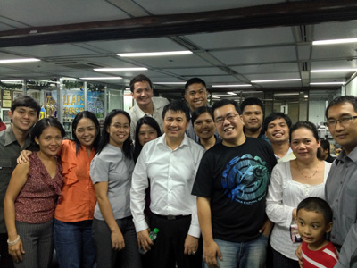 Me together with Mr. Noel Arandilla and my IMG family
