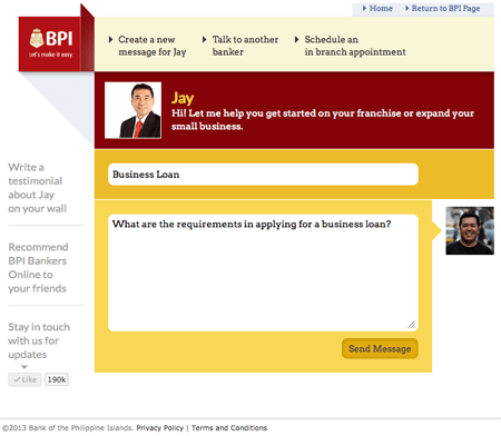 BPI Bankers Online on Jay