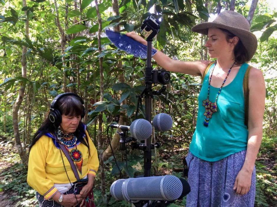 Maira in the Amazon filming Songs of the Vine