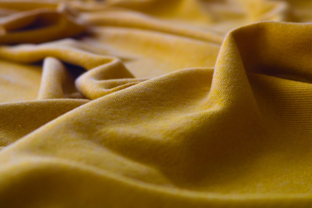 Rayon Cotton Modal Sweater - Nugget Gold 1.17m remnant
