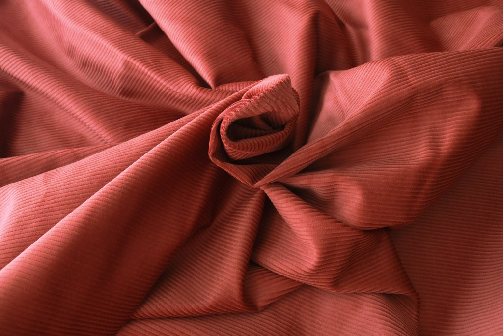 Organic Cotton Stretch Corduroy - Red Oak