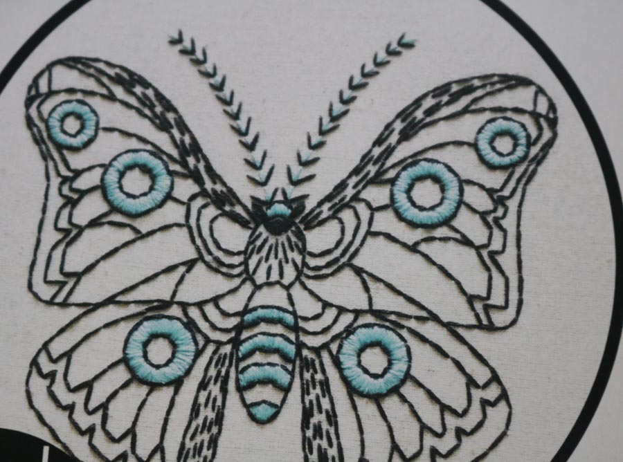 Hook, Line & Tinker Moth in Cloth Complete Embroidery Kit