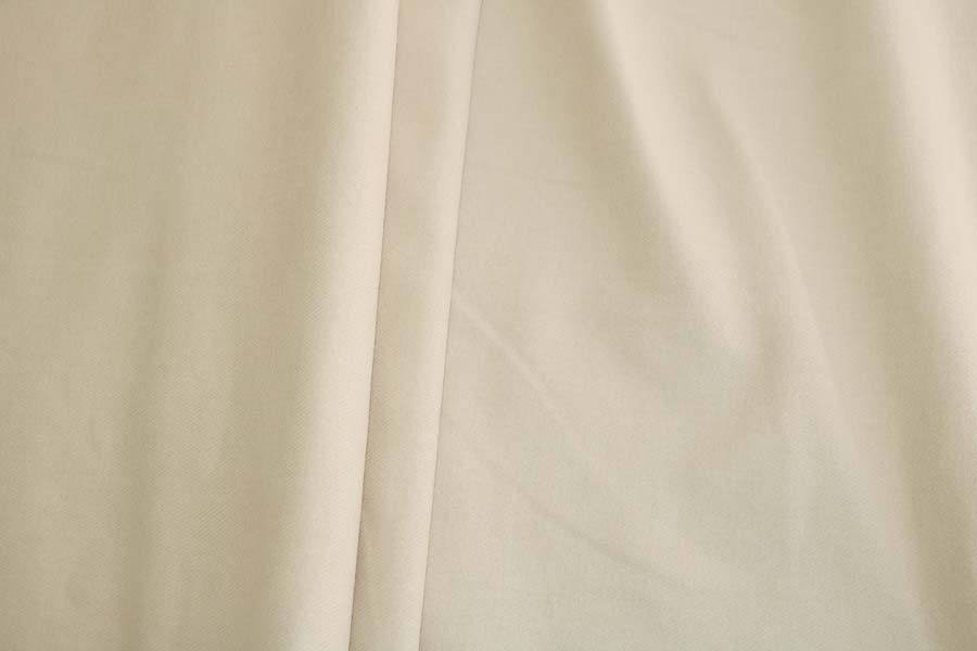 Organic Cotton Brushed Twill -- Oyster