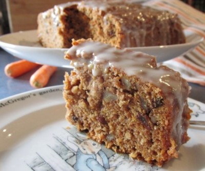 carrot cake with lemon glaze
