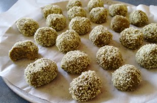 green tea balls ready to refrigerate
