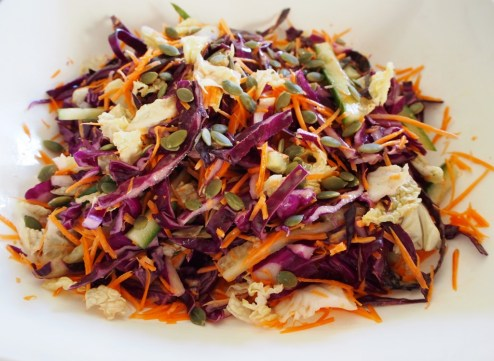 Purple cabbage coleslaw