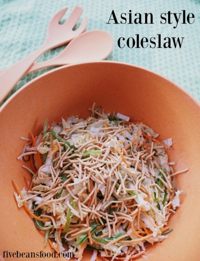 Tasty Asian coleslaw with crunchy noodles