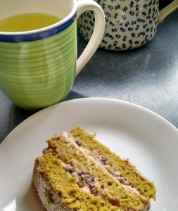 A nice cup of tea with a piece of cake