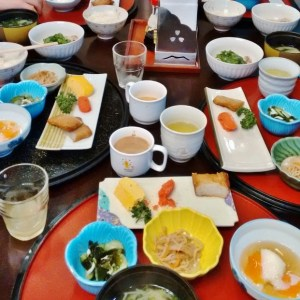 small plates at breakfast in Japan