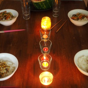 Dinner by candlelight for fun food February