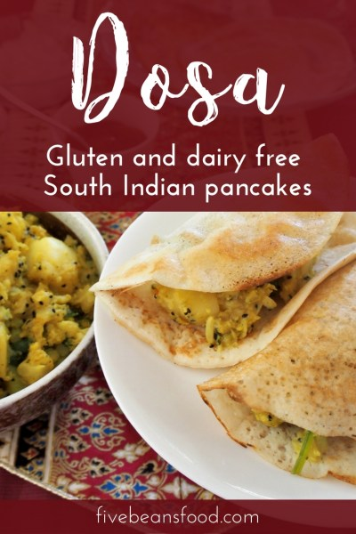 Dosa are South Indian savoury pancakes, naturally gluten and dairy free and made with a fermented rice and lentil batter