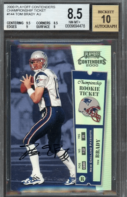 Will This Tom Brady Rookie Card Hit 100k Fivecardguys
