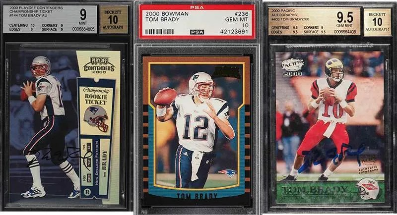 Big List Of Tom Brady Football Cards On Auction Ending Tonight