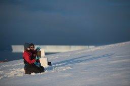 Sandra Schoettner in the Antarctic