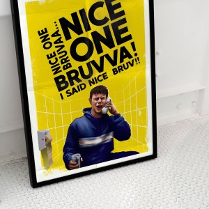Human Traffic - Nice one bruvva - Moff Print by FiveFive Designz