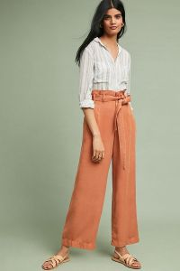 Anthropologie Orange Pants