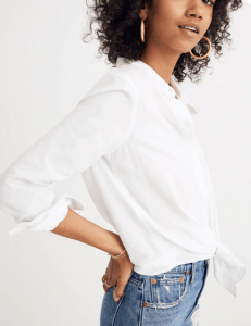 Madewell Tie-Front Top