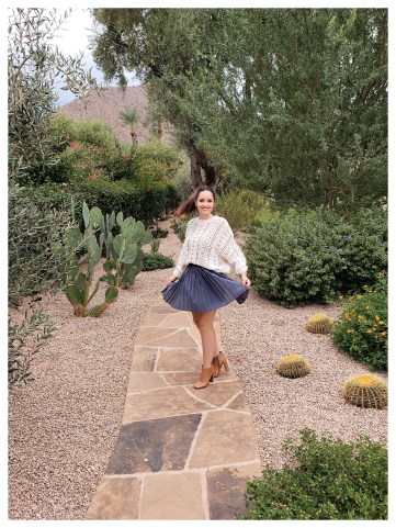 Petite Fashion Blogger Five Foot Feminine in Forever 21 Sweater