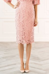 Rachel Parcell Rose Lace Skirt