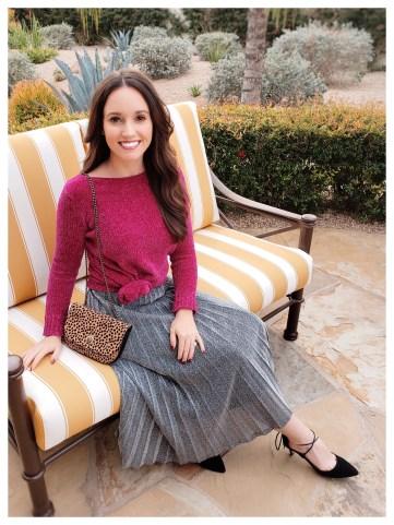Petite Fashion Blogger Five Foot Feminine in Hot Pink Chenille Sweater.jpg