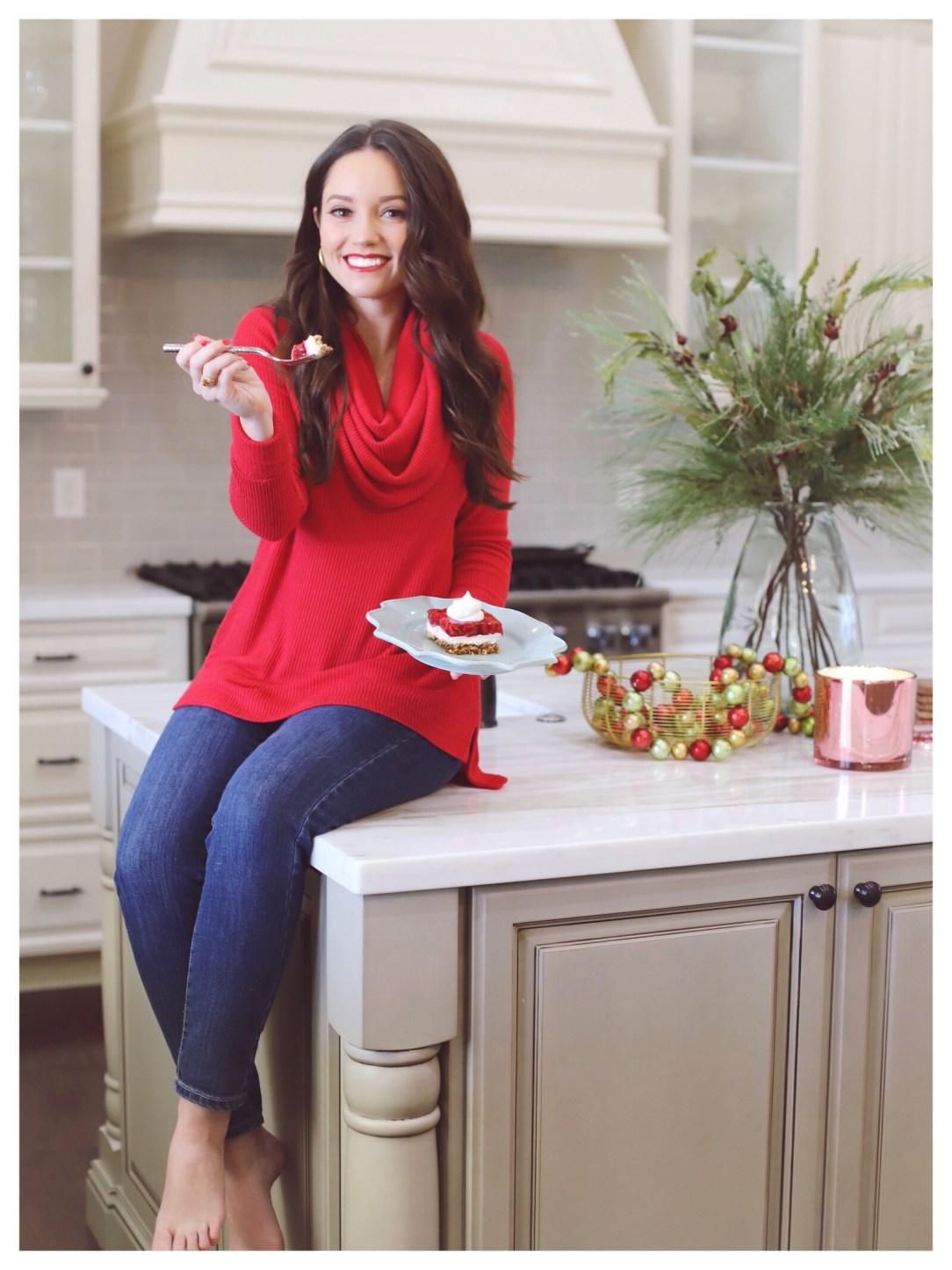 Raspberry Pretzel Salad with FiveFootFeminine