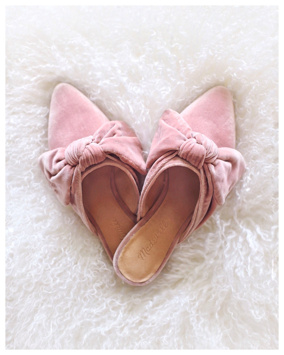 Madewell Remi Bow Mule in Velvet by Five Foot Feminine