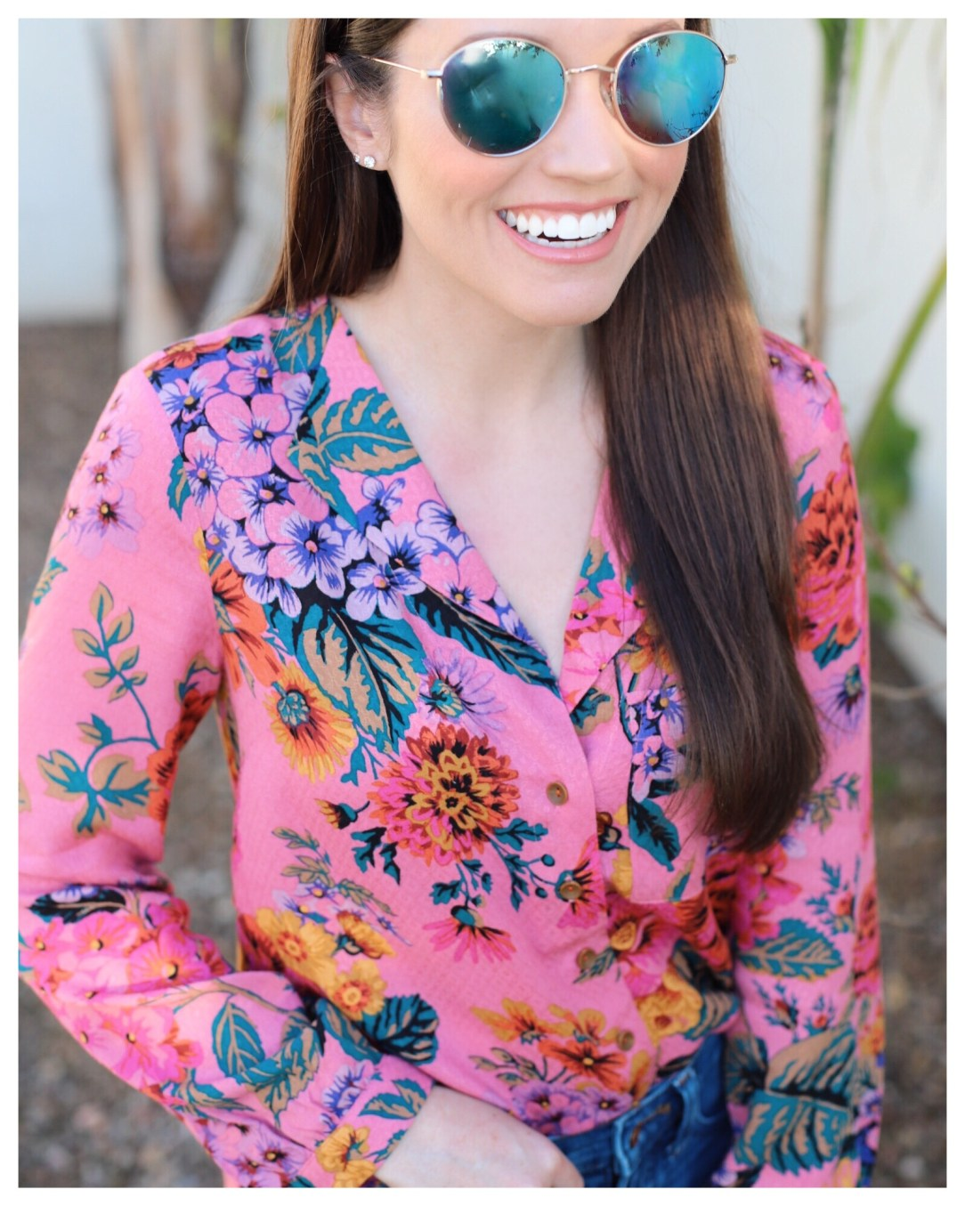 Five Foot Feminine in Anthropologie Manifold Buttondown