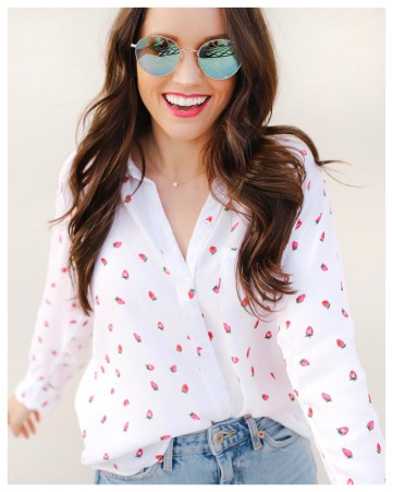 Five Foot Feminine in Rails Strawberry Fields Top