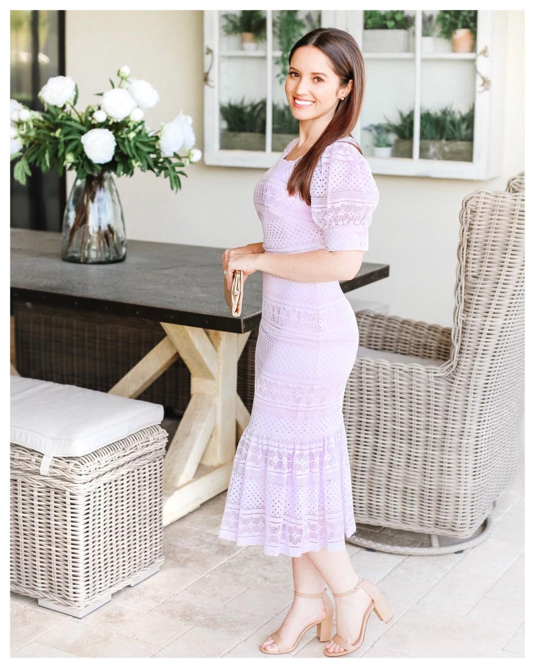 Rachel Parcell Square Neck Lace Dress on Five Foot Feminine