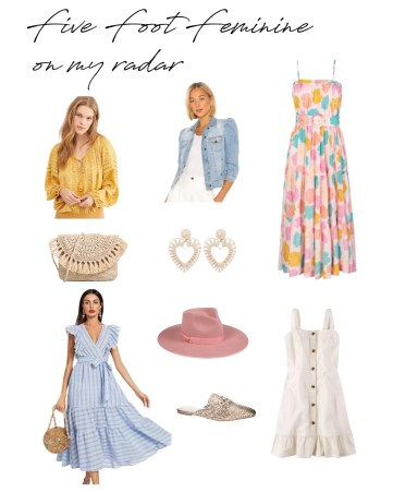 Five Foot Feminine On My Radar Spring