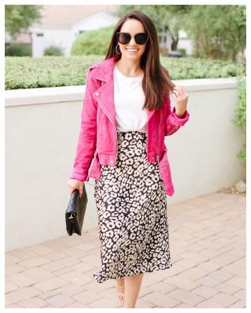 Leopard Slip Skirt on FiveFootFeminine
