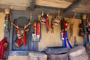 Local festival masks