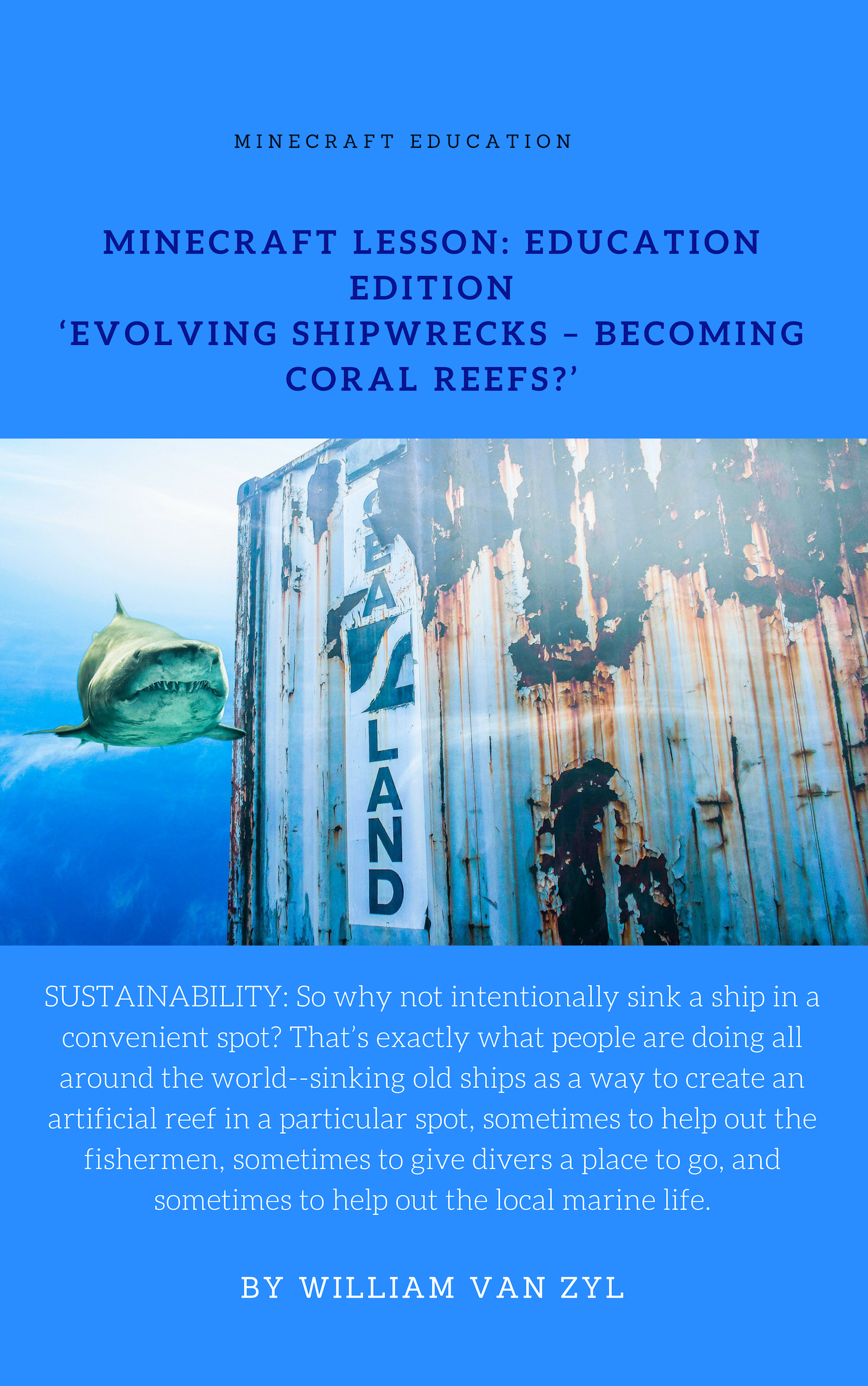 Minecraft Lesson Education Edition Evolving Shipwrecks Becoming Coral Reefs Ebooks