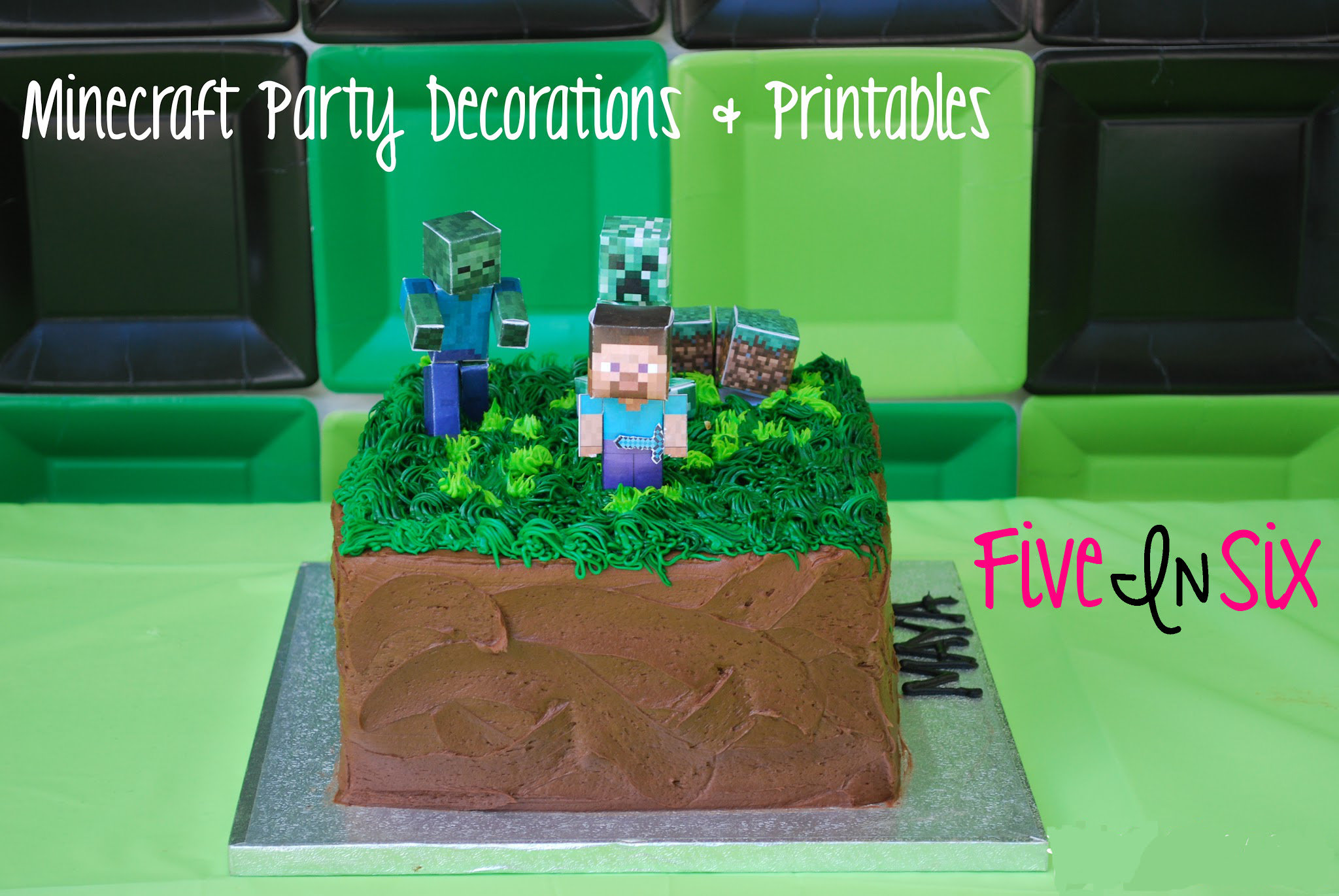 Minecraft Party Decoration Ideas And Downloadable Printables