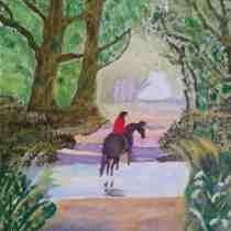 Bridie Smith Silvan Peace oil painting