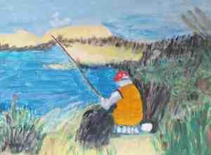 Kathleen Obrien Gone Fishing Painting