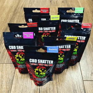 CBD Lion shatter 0.5g. Contact us for 1g shatter products