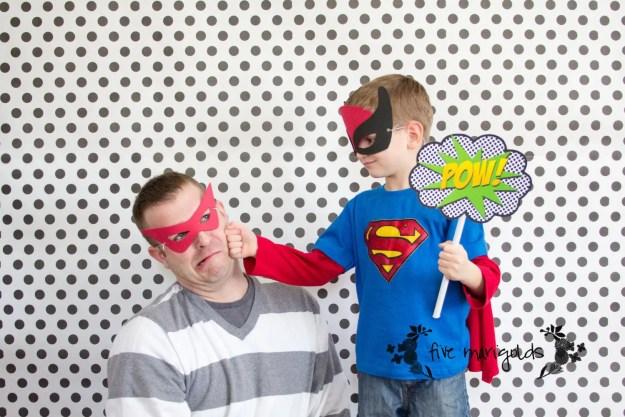 Super Hero Comic Book Party Crafts