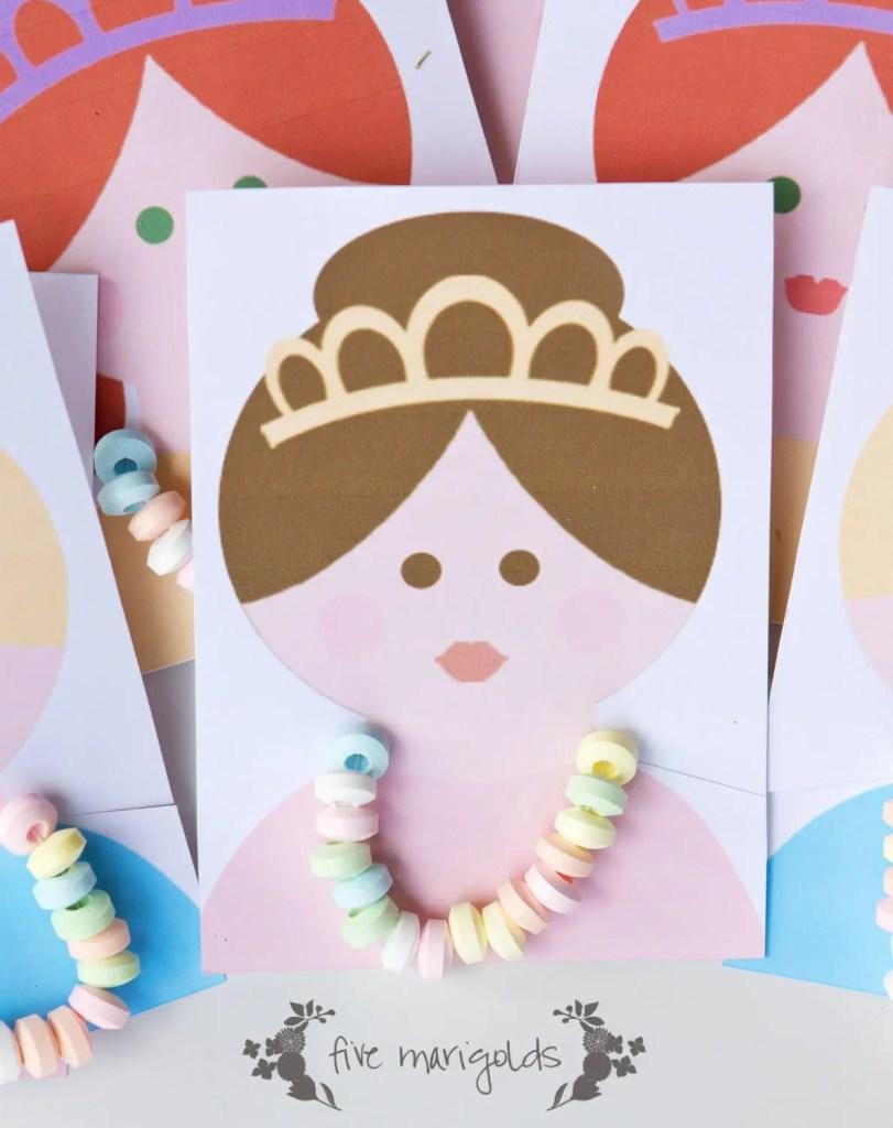 Princess Candy Necklace Party Favors | Five Marigolds