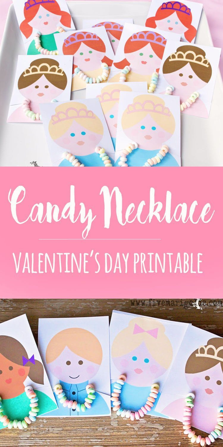 Candy Necklace Valentine's Day Printables