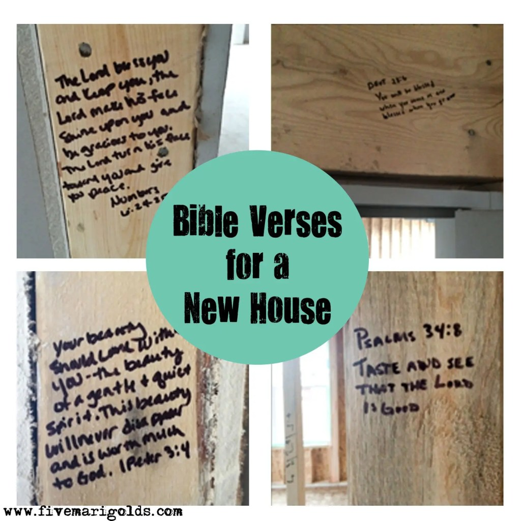 Bible Verses for a New Home Dedication | Five Marigolds