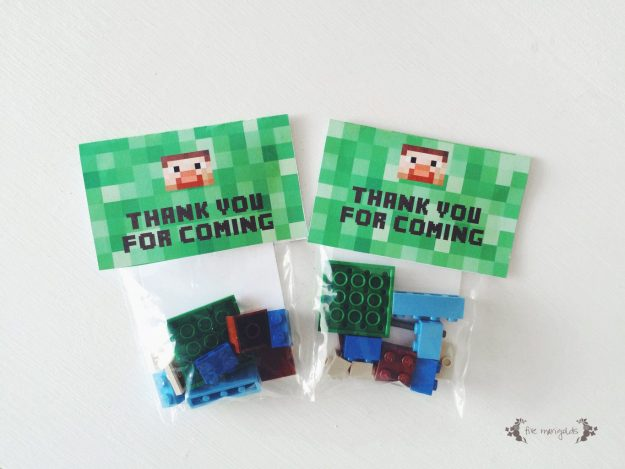 Minecraft Lego Steve Favors   Five Marigolds
