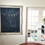 DIY Chalkboard Art with Rust-Oleum Chalkboard Paint | Five Marigolds