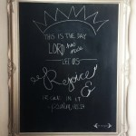 DIY Chalkboard Wall Art using Rust-Oleum Chalkboard Paint | Five Marigolds
