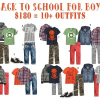 Back to School Wardrobe for Boys - On a Budget